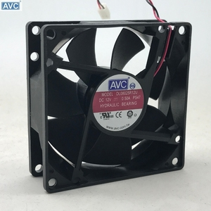 Image 1 - Dla AVC 8025 80mm x 80mm x 25mm DL08025R12U łożysko hydrauliczne chłodnica wentylator 12V 0.50A 2 drutu 2Pin złącze