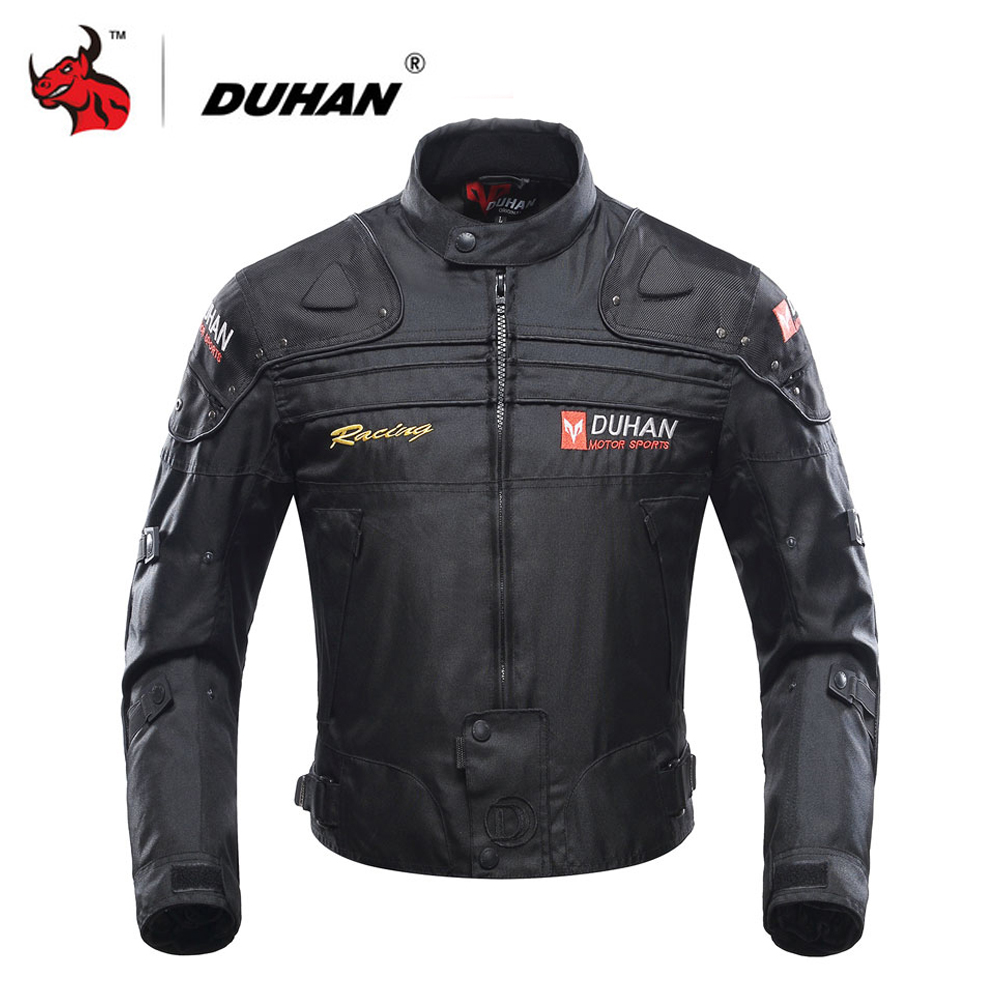 DUHAN Moto Veste Moto Veste D'équitation Coupe-Vent Moto Full Body De Protection D'armure de Vitesse Automne Hiver Moto Vêtements