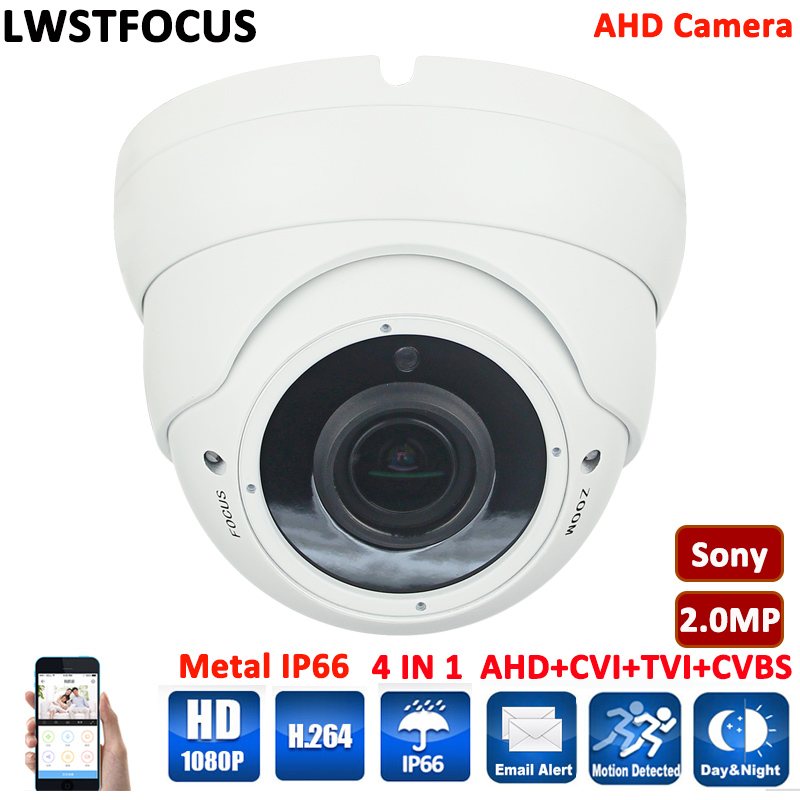 Varifocal waterproof/vandarproof room dome outdoor Sony imx 322 AHD/TVI/CVI/CVBS camera 4 in 1 Cameras AHD Camera 1080P cctv ahd 1080p ptz dome camera cvi tvi ahd cvbs 4 in 1 high speed dome ptz camera 2 0 megapixel sony cmos 20x optical zoom waterproof