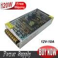 Venta al por menor 12 V 120 W 10A LED Fuente de Alimentación Conmutada Conductor 100 ~ 120 V/200 ~ 240 V de entrada de CA