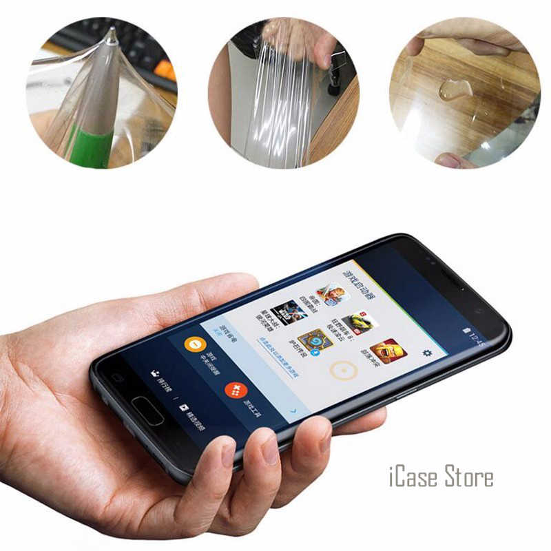 3D Cong Cạnh Tròn Toughed Đầy Đủ Bìa Phim Đối Với Samsung Galaxy S7 cạnh S6 Cạnh S8 Cộng Với Bảo Vệ Màn Hình (không Kính Cường Lực)