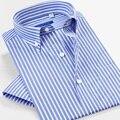 Мужская рубашка в полоску Smart Five  летняя хлопковая рубашка в деловом стиле с коротким рукавом  приталенная рубашка