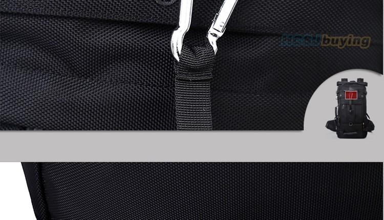 KAKA Men Backpack Travel Bag Large Capacity Versatile Utility Mountaineering Multifunctional Waterproof Backpack Luggage Bag 26