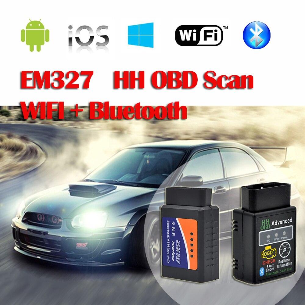 Цена за 2016 100% VgateELM327 V1.5 OBD2 Авто Код Читателя Мини 327 Автомобилей диагностический интерфейс ELM 327 Bluetooth WI-FI Диагностический Инструмент