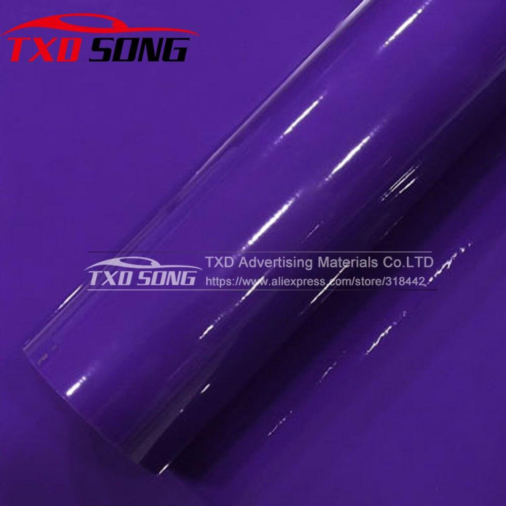 Super qualité autocollant de voiture en vinyle violet brillant avec 3 couches taille: 1.52*20 M par livraison gratuite