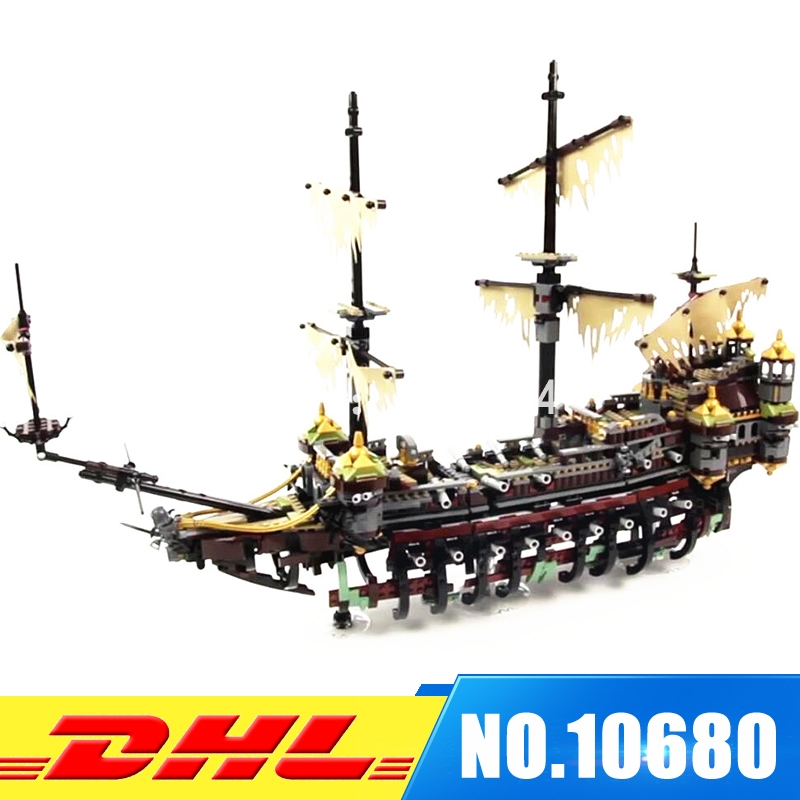 2017 New 10680 2324pcs Pirate Ship Series The Slient Mary Set Children Educational Building Blocks Model Bricks Toys Gift 71042 lepin 16042 pirates of the caribbean ship series the slient mary set children building blocks bricks toys model gift 71042