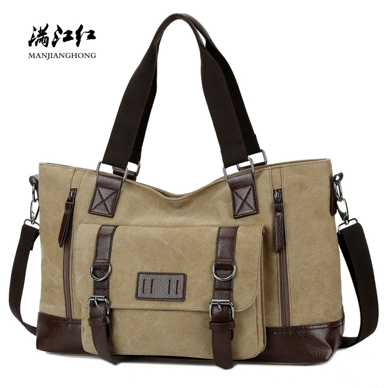 Large Casual Canvas Men Travel Bags Patchwork Leather Luggage Travel Bag Men Male Shoulder Travel Duffel Bags Messenger 1324