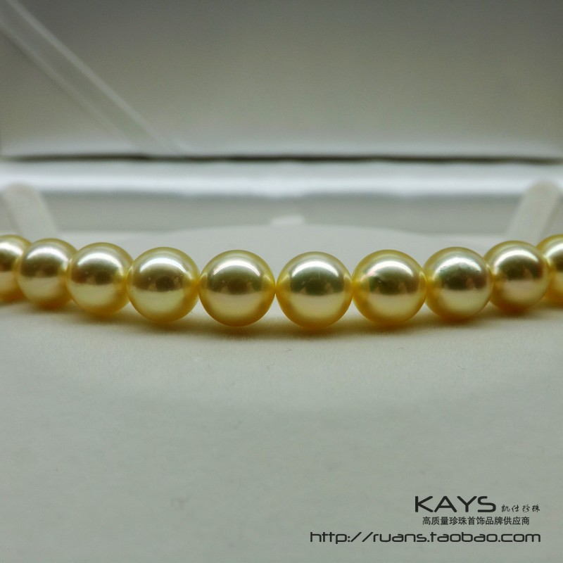 Women Gift word 925 Sterling silver real Natural champagne 8 8.5mm Akoya pearl necklaces to send his wife to send my mother flow