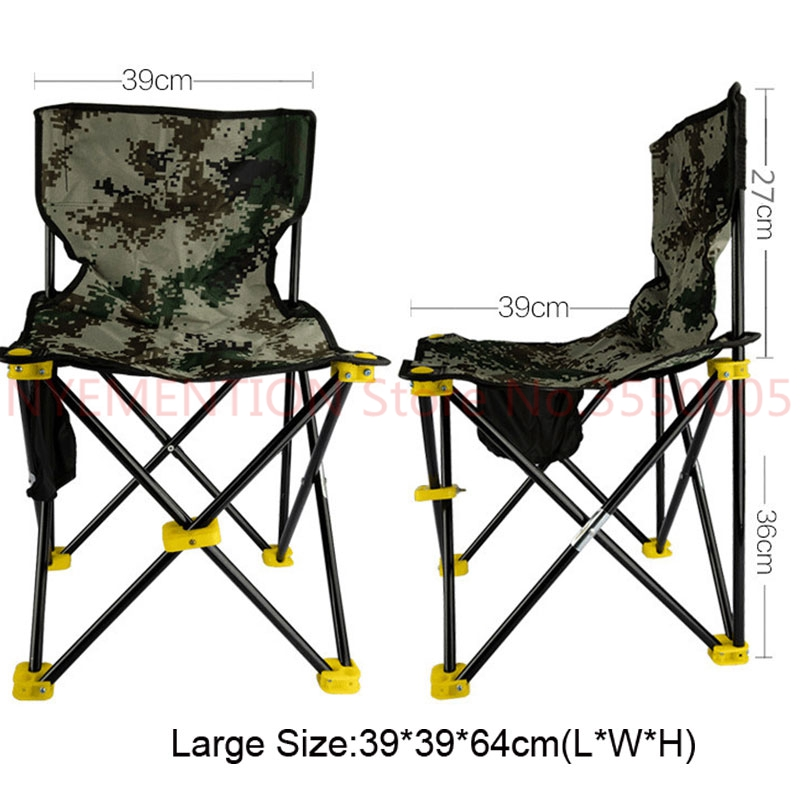 Lightweight Outdoor Fishing Chair Portable Folding Seat Camping Oxford Cloth Foldable Picnic Fishing Beach Chair with Bag 20pcs outdoor fishing chair beach with bag portable folding chairs fishing camping chair seat oxford cloth lightweight seat bbq