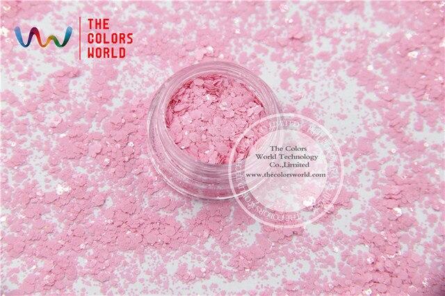 TCH304-H1 Luz Rosa Colores Mezclados Forma Hexagonal resistente a los Disolventes Cequis Del Brillo para el arte del clavo del gel del clavo de DIY decoración