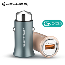 Jellico QC 3.0 Quick Charge Mobile Phone Charger for iPhone Samsung Tablet Fast Charging Mini Car Charger for Huawei Xiaomi