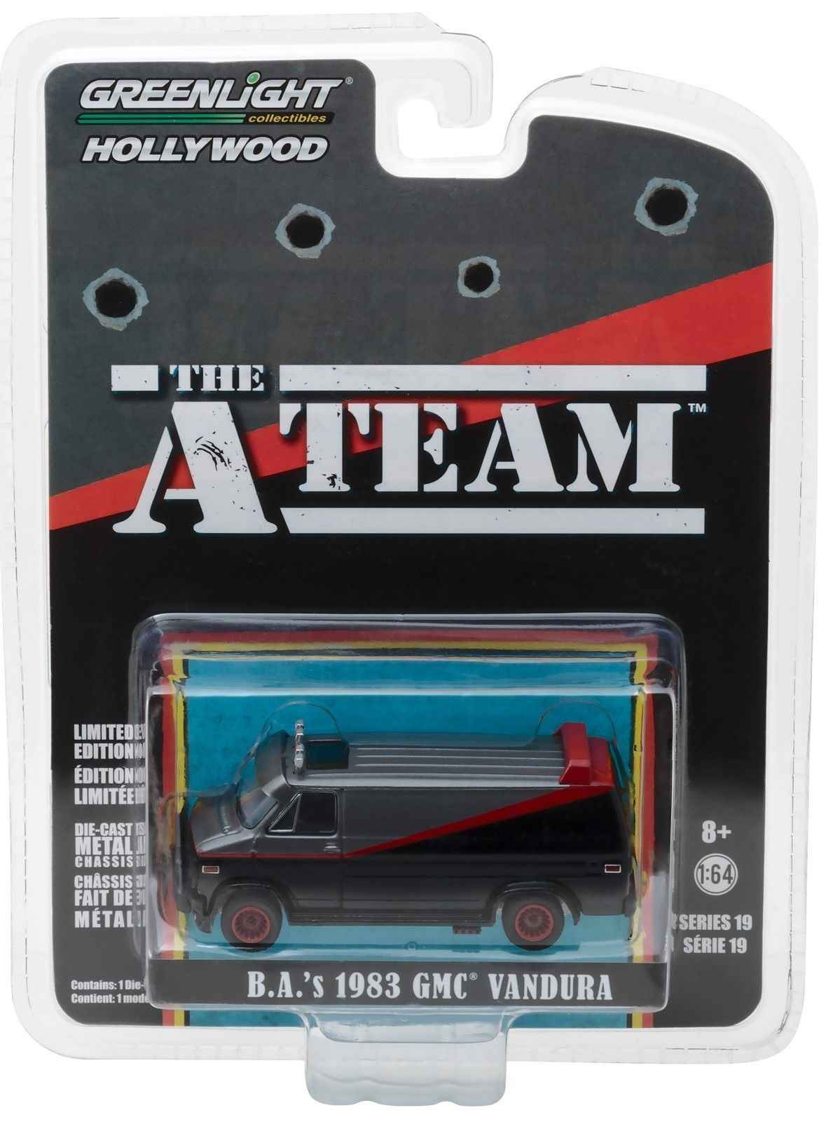 GL 1:64 B.A.'S 1983 GMC Vandura The A Team alloy model Car Diecast Metal Toys Birthday Gift For Kids Boy