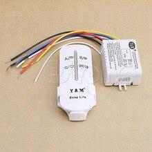 1 КОМПЛ. Новый 220 В Wireless ON/OFF 3 Способа Лампы Переключателя Дистанционного Управления Приемник Передатчик
