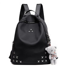 2018 New Women Backpack Female SchoolBag Preppy Style Backpack For Teenage girls Black Bagpack Ladies Travel