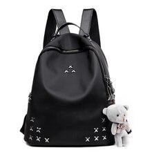 2018 New Women Backpack Female SchoolBag Preppy Style Backpack For Teenage girls Black Bagpack Ladies Travel Bag Back Pack