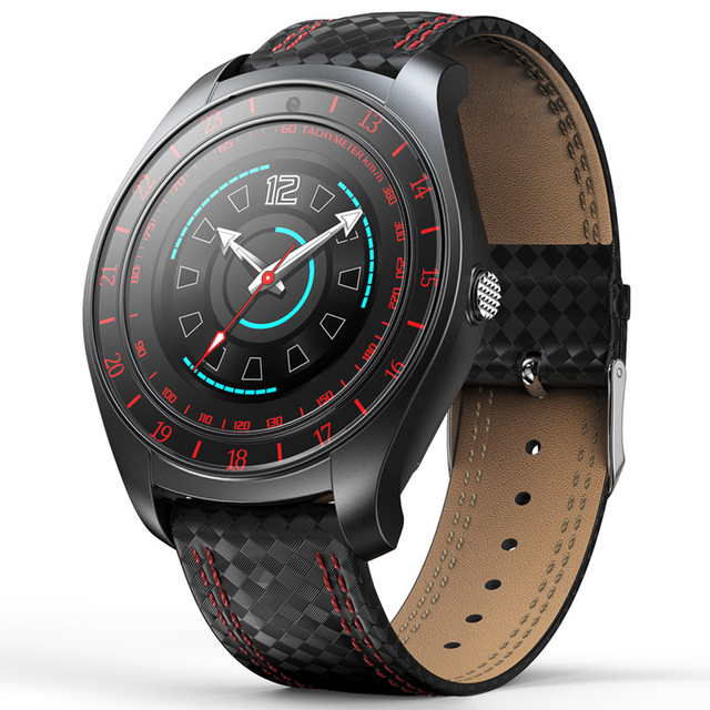 <font><b>V10</b></font> Smart Watch Men with Camera Bluetooth <font><b>Smartwatch</b></font> Pedometer Heart Rate Monitor Sim Card leather Wristwatch for Android Phone image