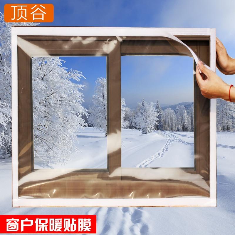 Plastic Window Insulation Thermal Paste Stickers Diy