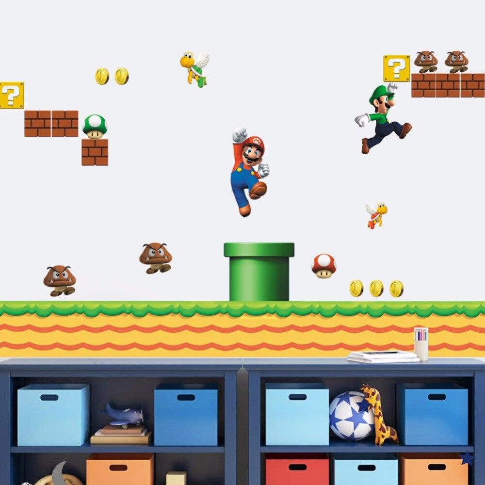 2019 neue design Riesige Große Super Mario Bros Vinyl Wand Aufkleber ...