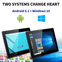Android5.1 + Windows10 nerlmiay 2 في 1 hd 10.1 بوصة الكمبيوتر اللوحي 2 جرام + 32 جرام wifi 3 جرام دعوة بلوتوث 5.1 مع المفاتيح