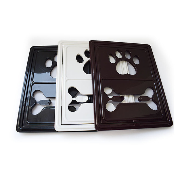 Controllable Lockable Plastic Pet Dog Cat Door for Screen Window Safety Flap Gates Pet Door Dog Fence Free Access Door for Home 4