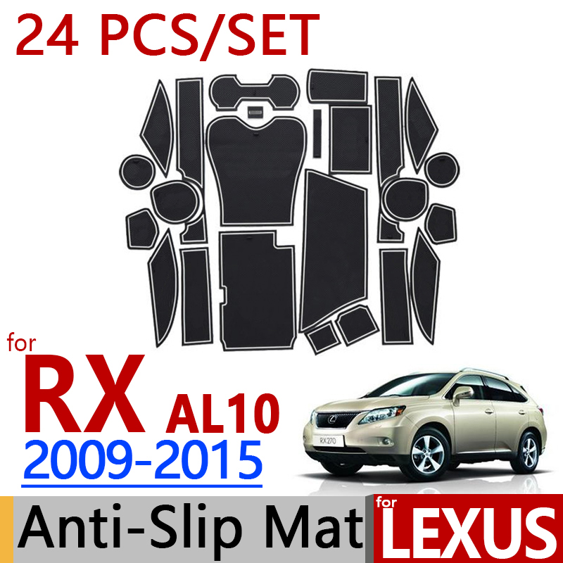 for Lexus RX 2009 2015 AL10 Anti Slip Rubber Cup Cushion Door Mat RX350 RX450h 2010 2012 2014 Accessories Car Styling Sticker-in Interior Mouldings from Automobiles & Motorcycles on AliExpress - 11.11_Double 11_Singles' Day 1
