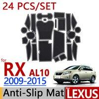 for Lexus RX 2009 2015 AL10 Anti Slip Rubber Cup Cushion Door Mat RX350 RX450h 2010 2012 2014 Accessories Car Styling Sticker