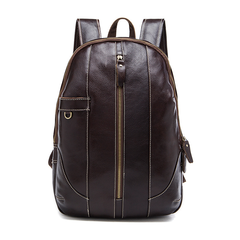 Vintage 100% First Layer of Genuine Cow Leather men Backpacks Casual Big men's travel bags High Grade Student's school bag men genuine leather school backpacks male vintage casual backpacks men s multi function large capacity travel school bags