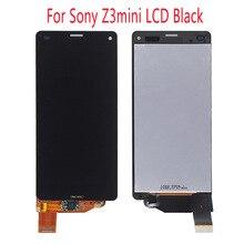 Получить скидку 100% тестирование ЖК-дисплей для Sony Xperia Z3 Compact мини m55w d5833 d5803 Дисплей Сенсорный экран планшета Ассамблея + спереди и сзади ленты
