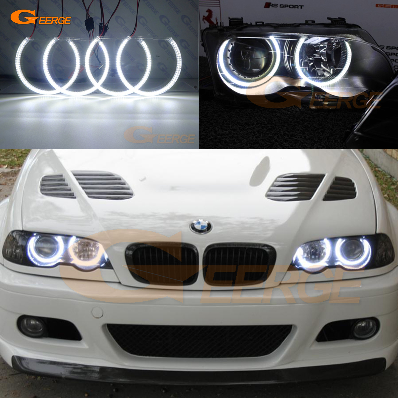 For BMW E46 M3 with factory equipped HID headlight 2001-2006 Excellent smd led angel eyes Ultra bright SMD led Angel Eyes kit historical sticker dolly dressing 1940s fashion