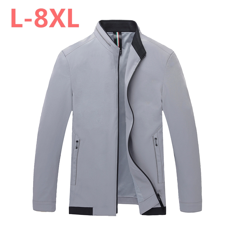Jacket Mens 2018 New Men Coat Big Size stand 3XL 4XL 5XL 6XL 7XL 8XL Business Fashion Casual Male Jackets spring and autumn