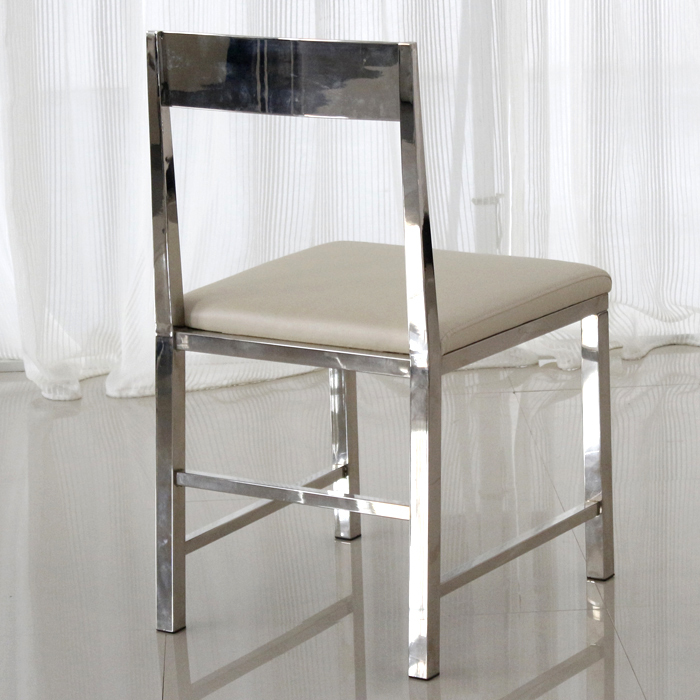 Low stainless steel restaurant chairs stylish modern minimalist white dining chairs Leather chairs parlor chairs negotiations-in Sh&oo Chairs from ... & Low stainless steel restaurant chairs stylish modern minimalist ...
