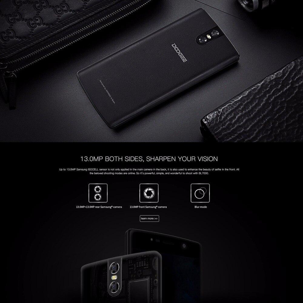LTE 4G DOOGEE BL7000 Smartphone 4GB+64GB 13MP Camera 7060mAh 5 5''  Cellphone Android 7 0 Octa Core