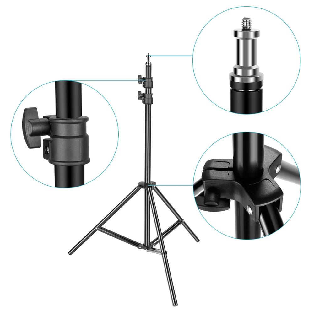 Image 3 - ZUOCHEN 2 Pack Photography Light Stand 79 Inches Heavy Duty Support Stand for Photo Studio Softbox, Umbrella, Strobe Light-in Light Stand from Consumer Electronics