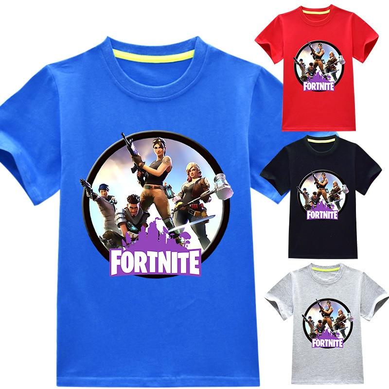 fashion Fortnite T shirt Summer Short Sleeve Tees Girls Boys Tops T-shirt Children Clothes kids costume Cotton 3D Print Tshirt
