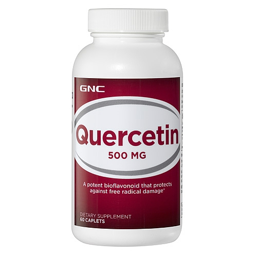 GNC Quercetin 500 MG 60 Caplets  Item #092712 gnc women s ultra mega active without iron 90 caplets free shipping u s a original imported