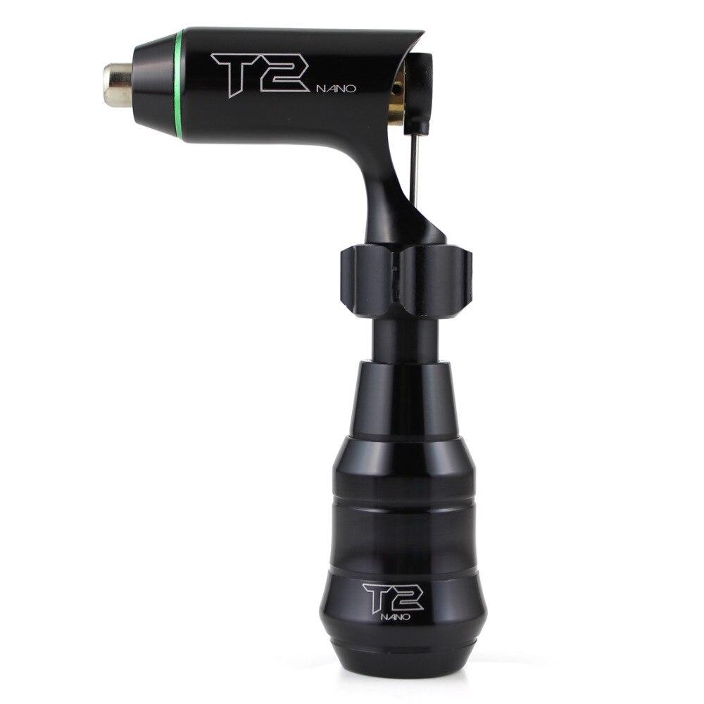 Nouveau! T2 Nano cartouche moteur suisse Mini Machine à tatouer rotative noir y compris cartouche poignée alimentation cordon RCA gratuit