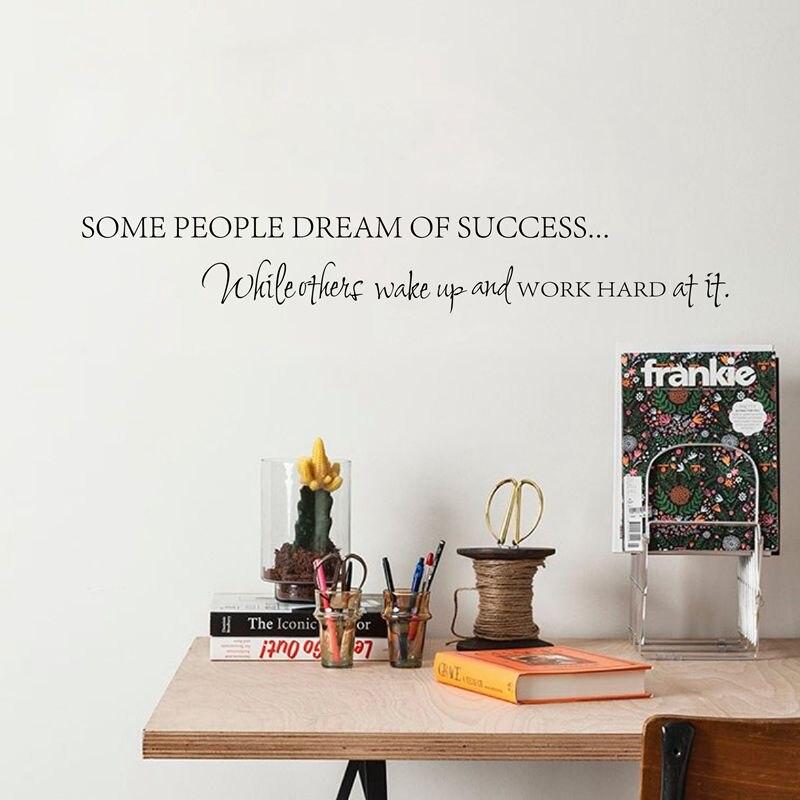 Проснись работу жесткий мечты мотивационные виниловый стикер DIY декоративные вдохновляющие цитаты настенные домашнего офиса украшения ...
