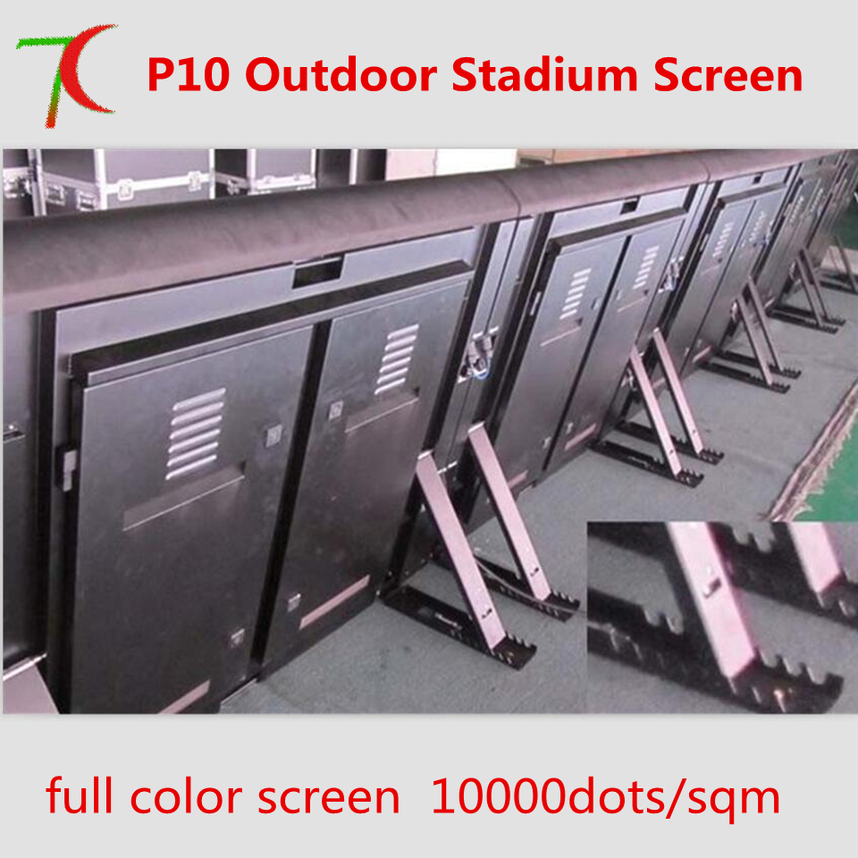 P10 Stadium Screen/ HD SMD Outdoor Full Color Water-proof Equipment Cabinet Display /4scan, 15625dots/m2