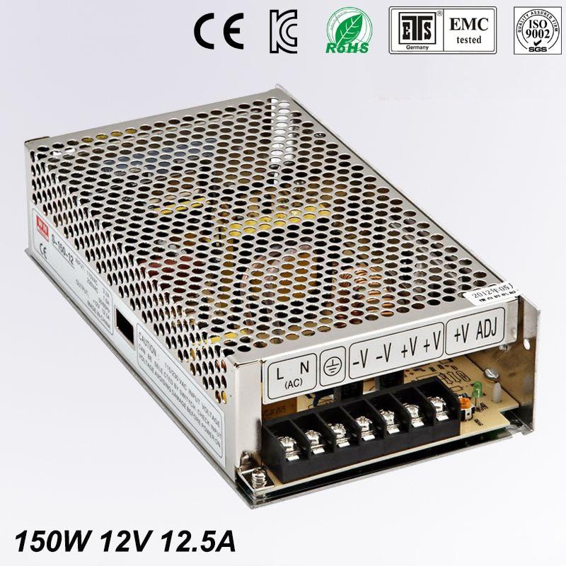 150W 12.5A 12 V Adjustable Smps Power Supply 12V Transformer 220v 110v AC to  12V For Led Strip light CNC CCTV switching power supply 720w dc 12v 60a 110 or 220v ac to dc12v smps for led strip display light cnc cctv free shipping