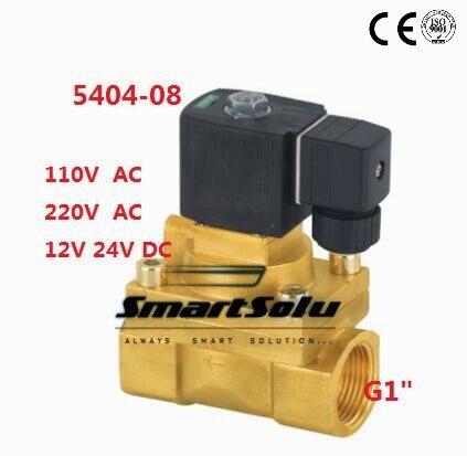 5 PCS Brass Pneumatic Solenoid Valves High Pressure G1 Guide Type High Temperature Solenoid Valves 5404-08 PTFE Seal