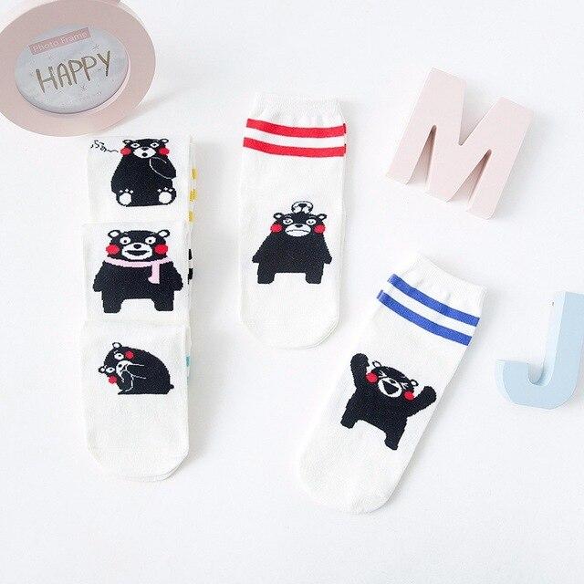 1 par/lote mujeres calcetines dibujos animados Kumamon animales ...