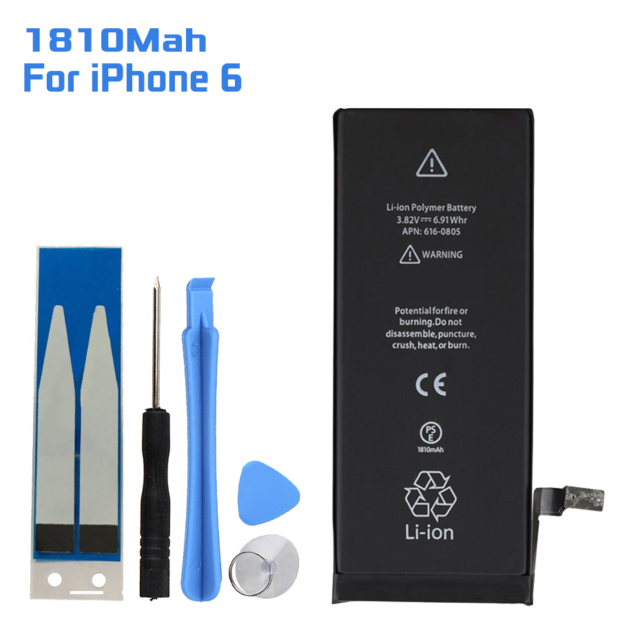 High Quality For Iphone 6 Phone Replacement Battery 1810Mah Mobile Rechargeable Battery Baterij Backup Li-ion Batteria Bateria