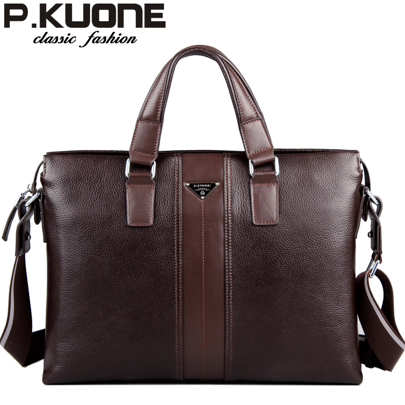 new  2017 designer brand 100% cowhide men genuine leather handbags man leather business briefcase laptop bag men messenger bags 10piece 100% new m3054m qfn chipset