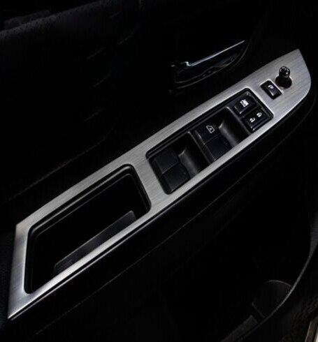 Car Interior door Handle Button trims Window control panel trim for Subaru XV for audi a4 b9 8w 2017 car interior door handle window lift panel cover trim carbon fiber