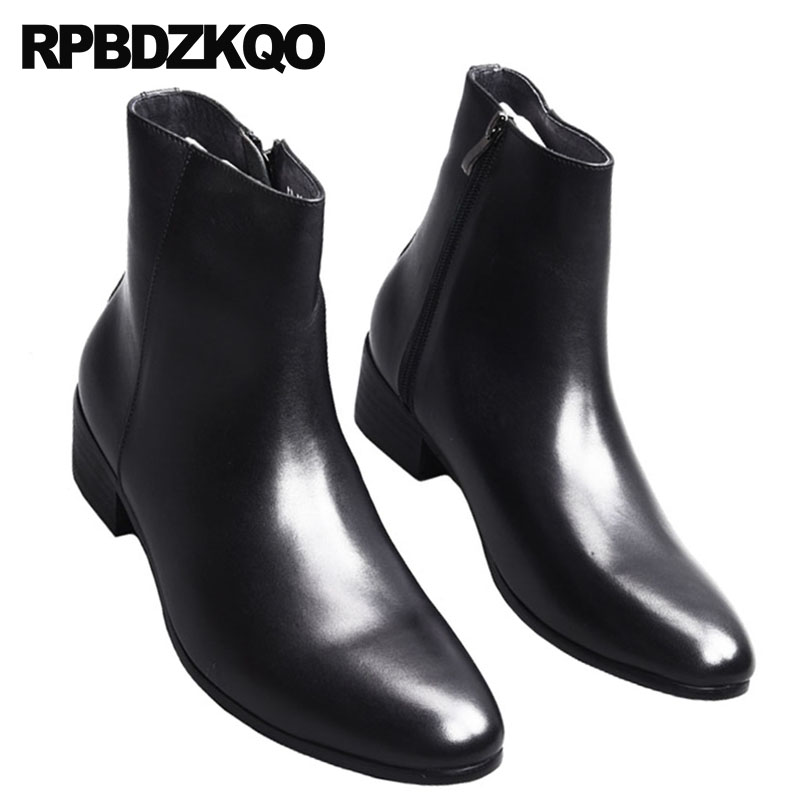 Handmade Boots Military Autumn Zipper Boot Genuine Leather Boots Ankle Shoes Chelsea Boots Designer Leather Shoes Footwear Special Summer Sale Chelsea Boots Men's Shoes