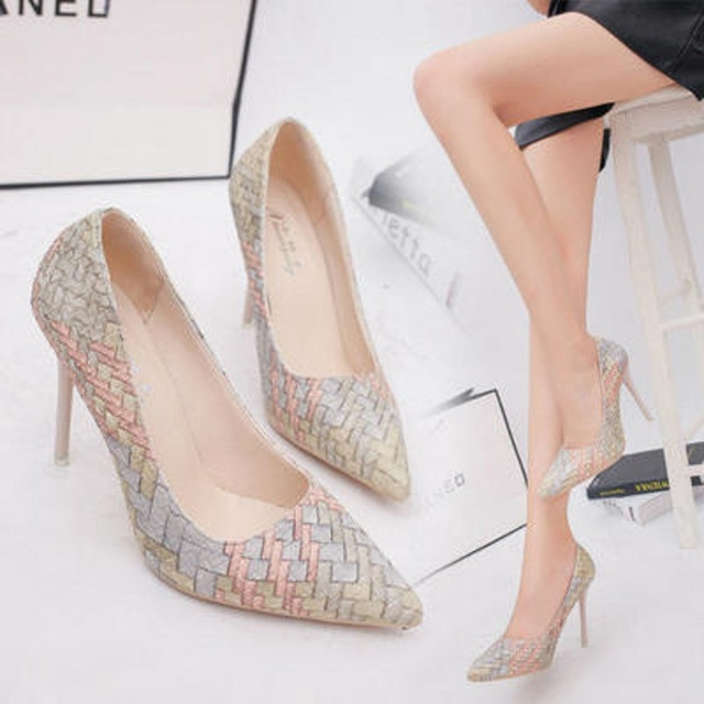 Spring and autumn new 10cm retro princess high heels female pointed sexy thin with shallow mouth elegant 34-39