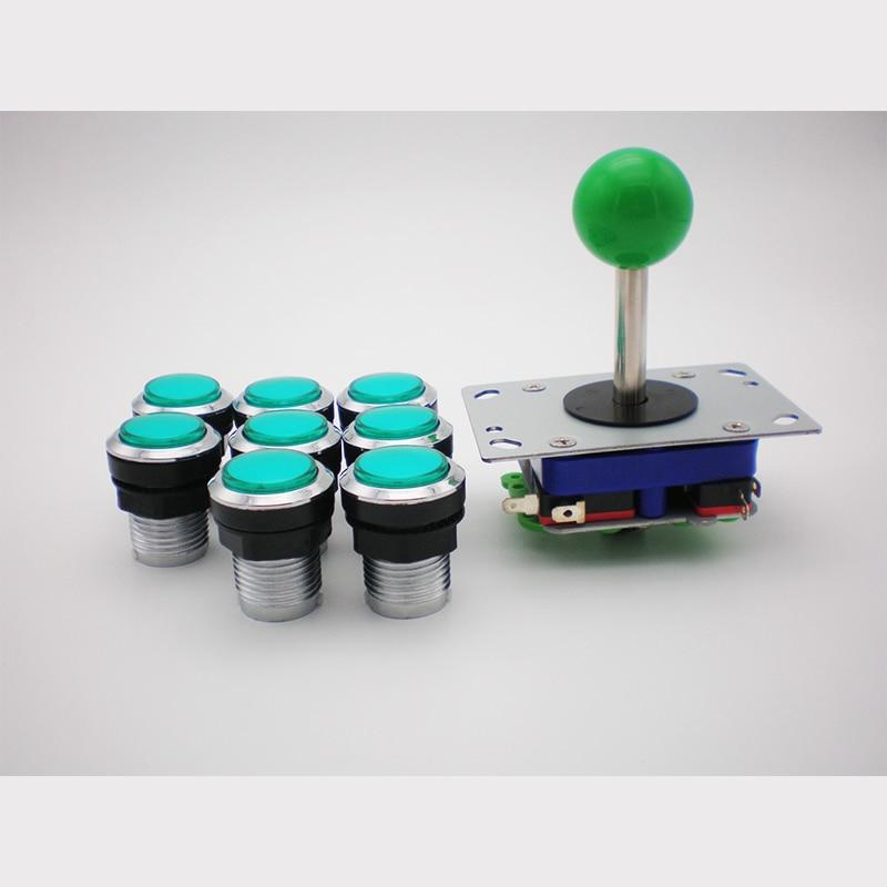 DIY Bundel Kit Dengan Joystick illuminated Arcade Push Buttons pemegang mur microswitch