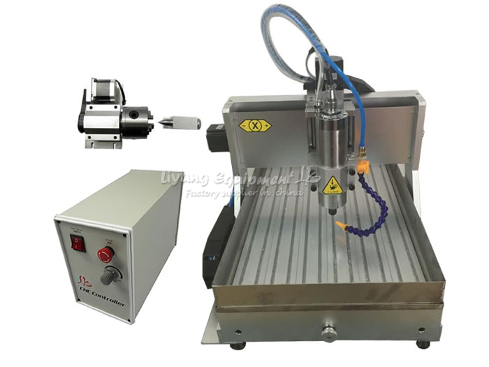 BIG working size CNC router machine 6040 Z-VFD 2.2KW USB 4axis engraver with water tank for wood metal cnc 5axis a aixs rotary axis t chuck type for cnc router cnc milling machine best quality