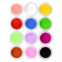 12 Colors Acrylic Powder Dust UV Gel Design 3D Tips Decoration Manicure Nail Art ,Acrylic nail art powder , nail art tools