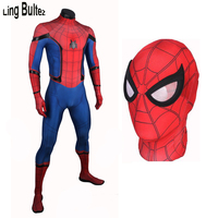 Ling Bultez High Quality Spiderman Homecoming Cosplay Costume 2017 Tom Holland Spider Man Suit 2017 Homecoming